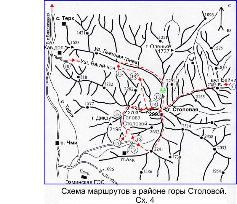 югу от города Владикавказа