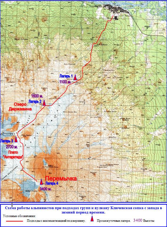 Карта-схема подходов к месту