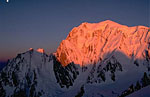 Mont Blanc  and  Grand Pilier d'Angle
