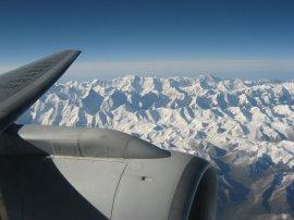 Центральный Тянь-Шань с самолёта