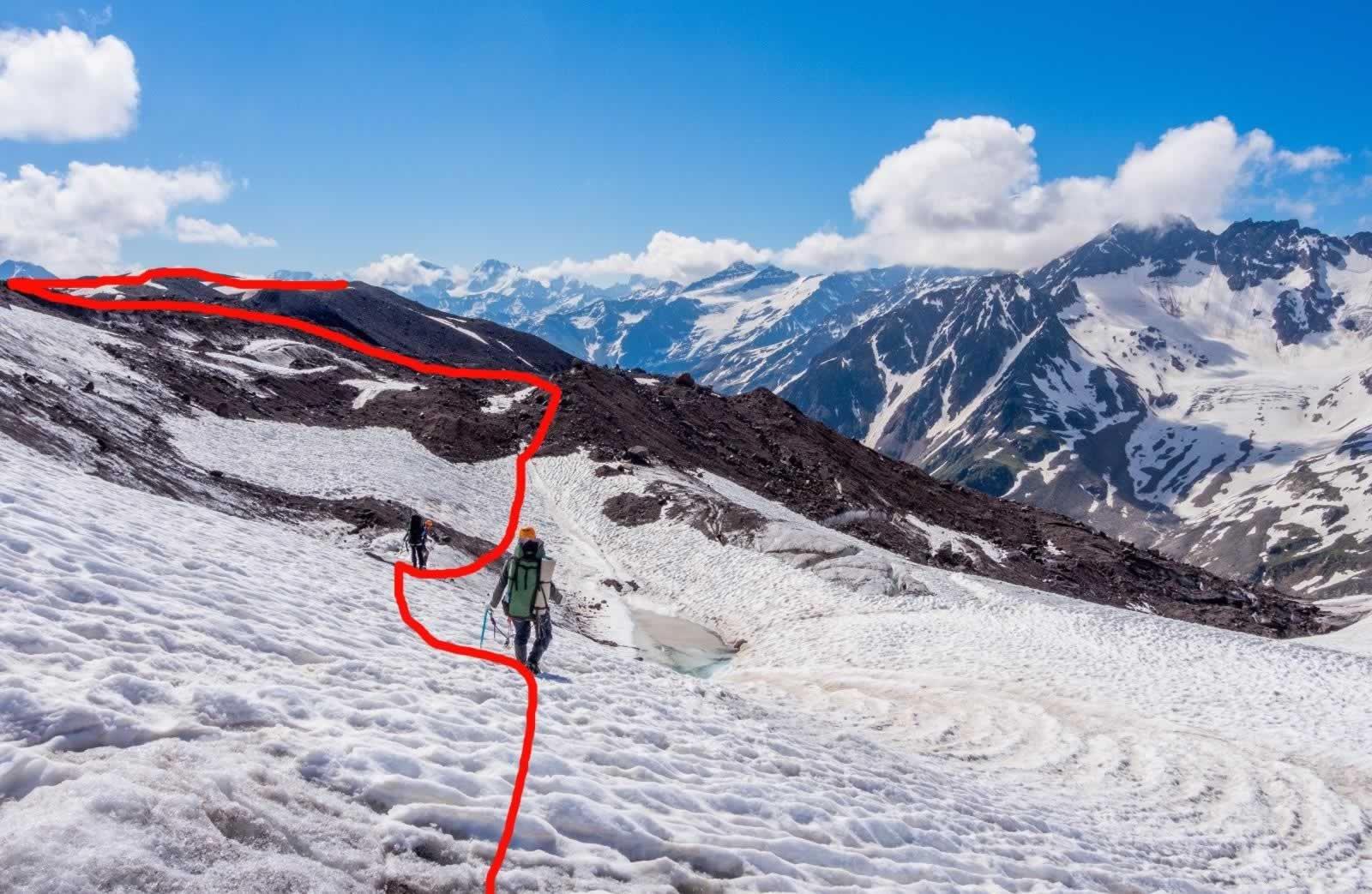 Отчёт о горном походе 3 к.с. по Центральному Кавказу