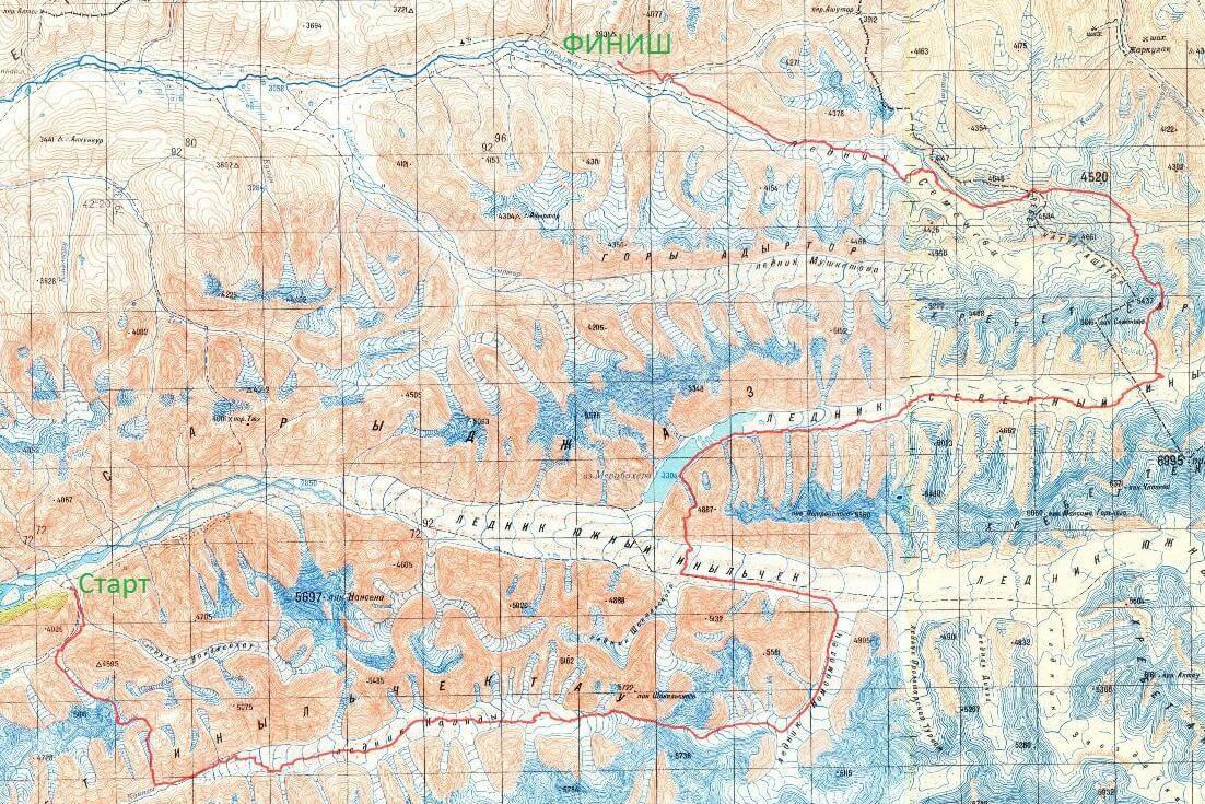 Отчет о горном походе 4 к.с. по восточной части Ц.Тянь-Шаня