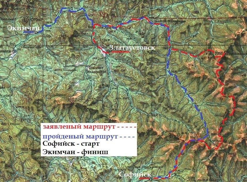 Отчет о пешеходном походе 5 к.с. по хребту Эзоп
