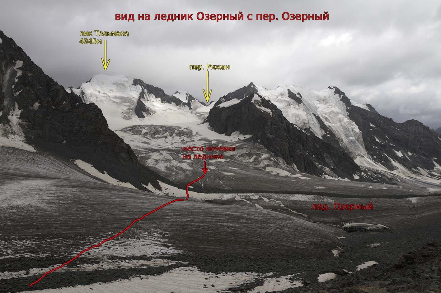 Отчет о горном походе I к.с. с 3 к.с. совершенном по Центральному Тянь-Шаню