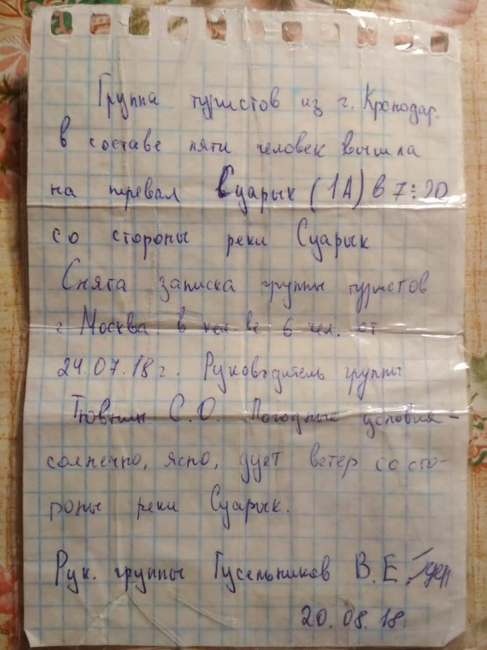 Отчет о горном походе 1к.с. по Центр.Кавказу