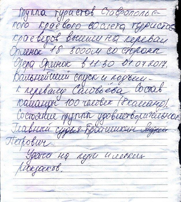 Отчет о пешеходном туристском спортивном походе 3 к.с. по Зап.Кавказу