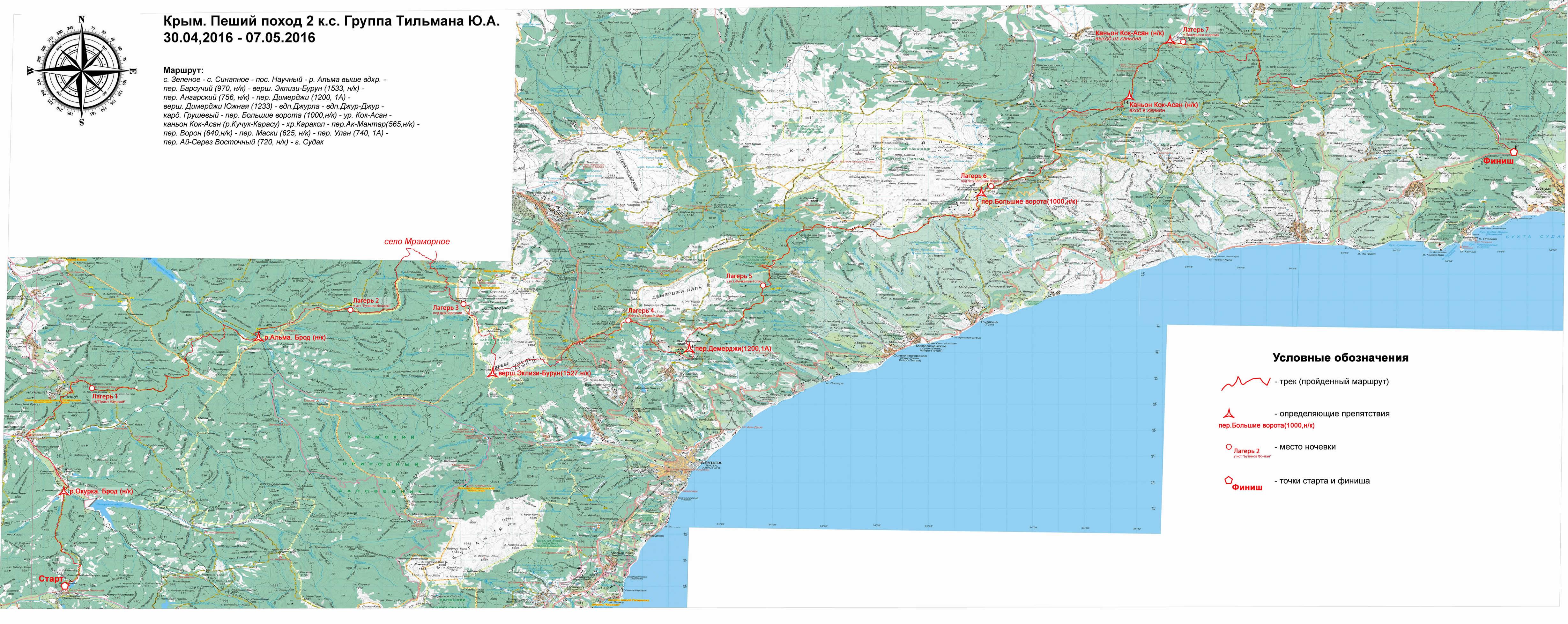 Отчет о пешем походе 2 к.с. по Республике Крым